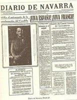 Víctor Moreno. Diario de Navarra, un periódico golpista